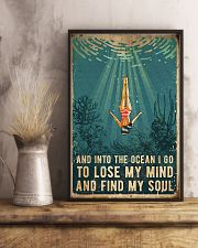 Swimming Into The Ocean I Go To Find My Soul 11x17 Poster lifestyle-poster-3