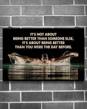 Swimmers Being Better Than You Were The Day Before 17x11 Poster aos-poster-landscape-17x11-lifestyle-18