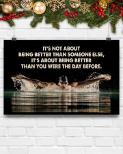 Swimmers Being Better Than You Were The Day Before 17x11 Poster aos-poster-landscape-17x11-lifestyle-28