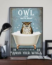 Owl - Wash Your Wings 11x17 Poster lifestyle-poster-2