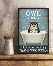 Owl - Wash Your Wings 11x17 Poster lifestyle-poster-3