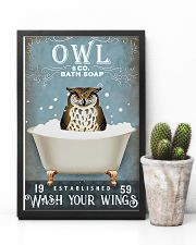 Owl - Wash Your Wings 11x17 Poster lifestyle-poster-8