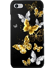 Butterfly Gold and White Phone Case i-phone-7-case