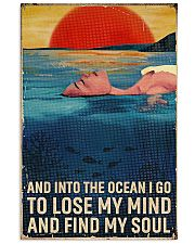 Swimming - Into The Ocean I Go To Lose My Mind 11x17 Poster front
