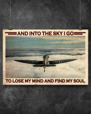 Pilot Into The Sky 17x11 Poster aos-poster-landscape-17x11-lifestyle-12