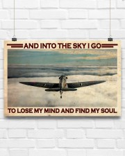 Pilot Into The Sky 17x11 Poster aos-poster-landscape-17x11-lifestyle-17