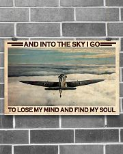 Pilot Into The Sky 17x11 Poster poster-landscape-17x11-lifestyle-18