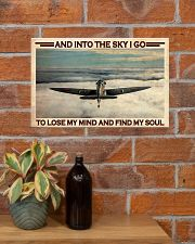 Pilot Into The Sky 17x11 Poster poster-landscape-17x11-lifestyle-23