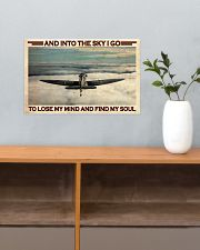 Pilot Into The Sky 17x11 Poster poster-landscape-17x11-lifestyle-24