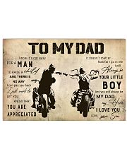 Motorcycle To My Dad 17x11 Poster front