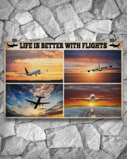 Pilot Life Is Better With Flights 17x11 Poster aos-poster-landscape-17x11-lifestyle-13