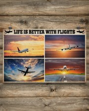 Pilot Life Is Better With Flights 17x11 Poster aos-poster-landscape-17x11-lifestyle-14