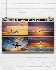 Pilot Life Is Better With Flights 17x11 Poster aos-poster-landscape-17x11-lifestyle-17