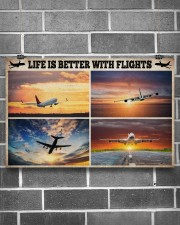 Pilot Life Is Better With Flights 17x11 Poster aos-poster-landscape-17x11-lifestyle-18
