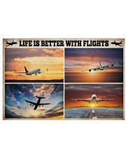 Pilot Life Is Better With Flights 17x11 Poster front