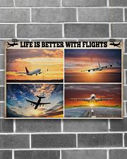Pilot Life Is Better With Flights 17x11 Poster poster-landscape-17x11-lifestyle-18
