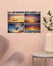 Pilot Life Is Better With Flights 17x11 Poster poster-landscape-17x11-lifestyle-22