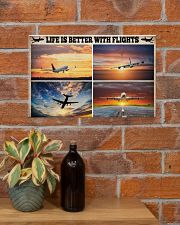Pilot Life Is Better With Flights 17x11 Poster poster-landscape-17x11-lifestyle-23