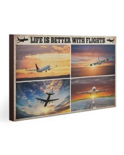 Pilot Life Is Better With Flights 30x20 Gallery Wrapped Canvas Prints thumbnail