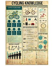 Cycling Knowledge 11x17 Poster front