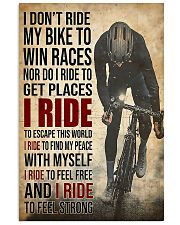 I Ride Cycling 11x17 Poster front