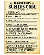 Surfing 10 Basic Rules Sufers Code  11x17 Poster front