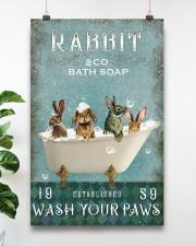 Rabbit Wash Your Paws 11x17 Poster aos-poster-portrait-11x17-lifestyle-19