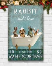 Rabbit Wash Your Paws 11x17 Poster aos-poster-portrait-11x17-lifestyle-23