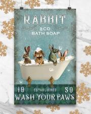 Rabbit Wash Your Paws 11x17 Poster aos-poster-portrait-11x17-lifestyle-25