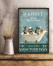 Rabbit Wash Your Paws 11x17 Poster lifestyle-poster-3