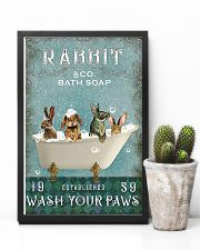 Rabbit Wash Your Paws 11x17 Poster lifestyle-poster-8