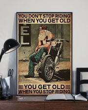Motorcycle You Get Old When You Stop Riding  11x17 Poster lifestyle-poster-2