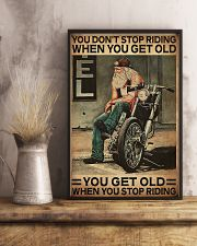 Motorcycle You Get Old When You Stop Riding  11x17 Poster lifestyle-poster-3