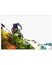 Cycling Mountain Biking 17x11 Poster front