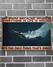 Swimming It's The Only Thing That's Right  17x11 Poster poster-landscape-17x11-lifestyle-18