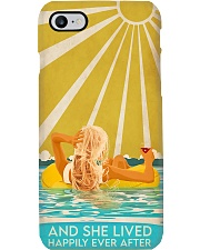 Swimming And She Lived Happily Ever After Phone Case i-phone-7-case