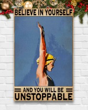 Swimmers Believe In Yourself You'll Be Unstoppable 11x17 Poster aos-poster-portrait-11x17-lifestyle-23