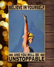 Swimmers Believe In Yourself You'll Be Unstoppable 11x17 Poster aos-poster-portrait-11x17-lifestyle-24