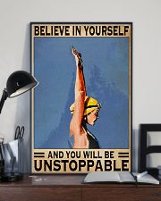 Swimmers Believe In Yourself You'll Be Unstoppable 11x17 Poster lifestyle-poster-2