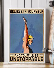 Swimmers Believe In Yourself You'll Be Unstoppable 11x17 Poster lifestyle-poster-4