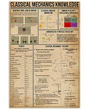 Classical Mechanics Knowledge 11x17 Poster front