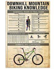 Cycling Downhill Mountain Biking 11x17 Poster front