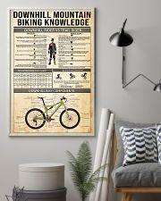 Cycling Downhill Mountain Biking 11x17 Poster lifestyle-poster-1