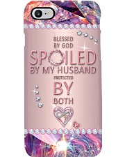 Christian - Blessed By God Spoiled By My Husband Phone Case i-phone-8-case