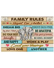 Elephants Family Rules  17x11 Poster front