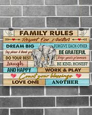 Elephants Family Rules  17x11 Poster poster-landscape-17x11-lifestyle-18