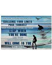 Surfing - Don't Limit Your Challenges 17x11 Poster front