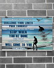 Surfing - Don't Limit Your Challenges 17x11 Poster poster-landscape-17x11-lifestyle-18