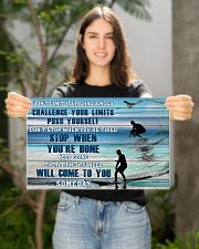 Surfing - Don't Limit Your Challenges 17x11 Poster poster-landscape-17x11-lifestyle-19