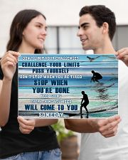 Surfing - Don't Limit Your Challenges 17x11 Poster poster-landscape-17x11-lifestyle-20